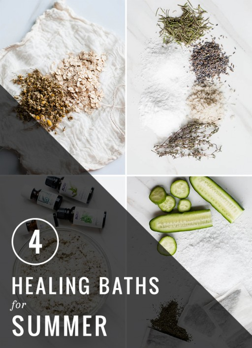 4 DIY healing baths for summer