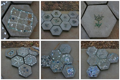 Cute DIY stepping stones