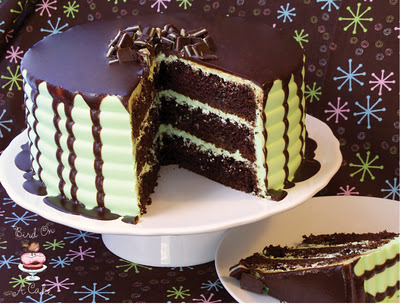 DIY Andes mint chocolate cake with ganache recipe