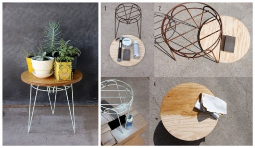 DIY easy plant stand table