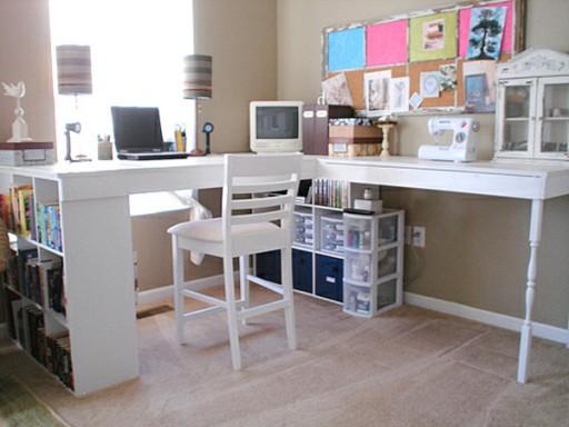 DIY modern craft desk tutorial