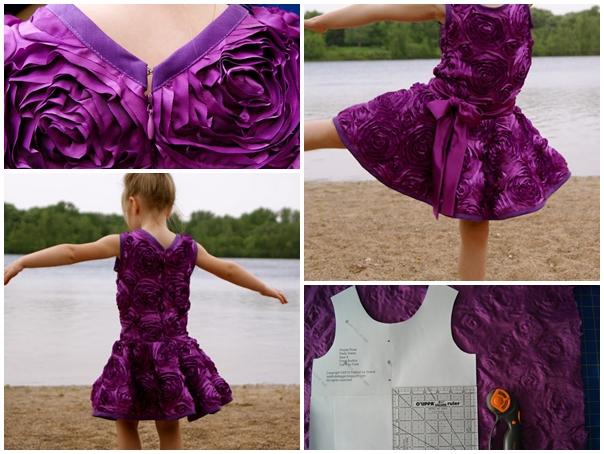 Diy purple rose party dress tutorial diy tag for Diy party dress