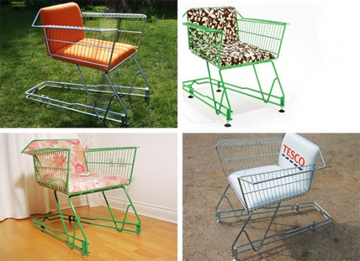 DIY recycled shopping trolleys