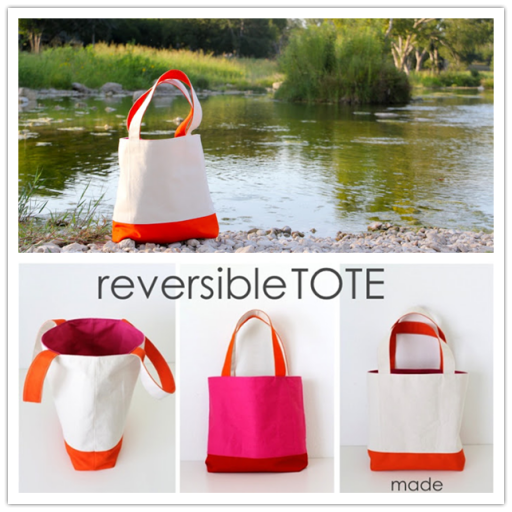 DIY reversible tote tutorial