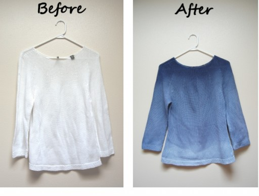 DIY sweater dip dye tutorial 2