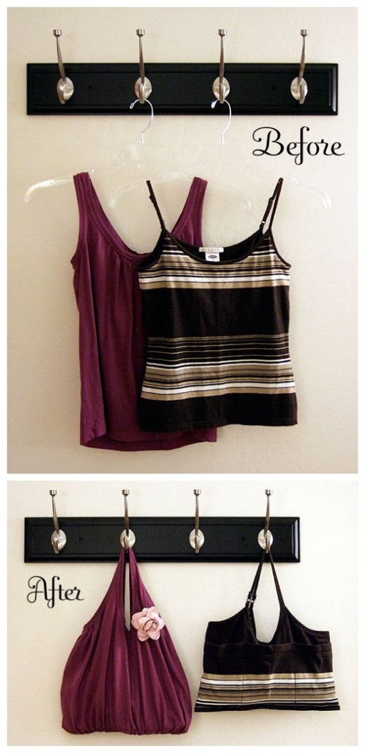 DIY tank top tote tutorial