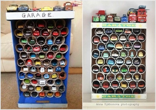 DIY toy car storage