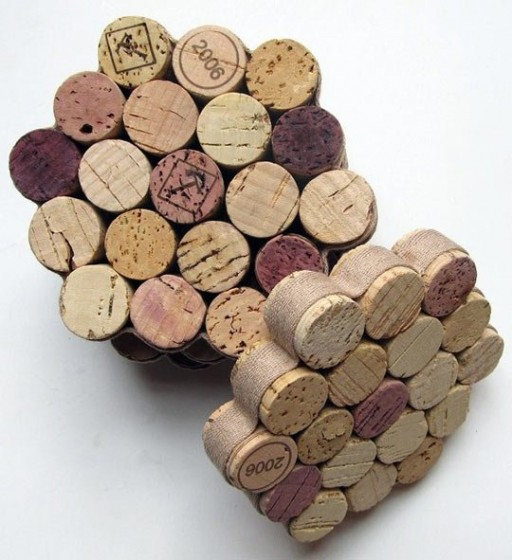 DIY wine cork coaster