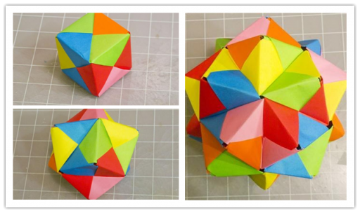 Ho to make Modular Origami Cube, Octahedron & Icosahedron from Sonobe Units