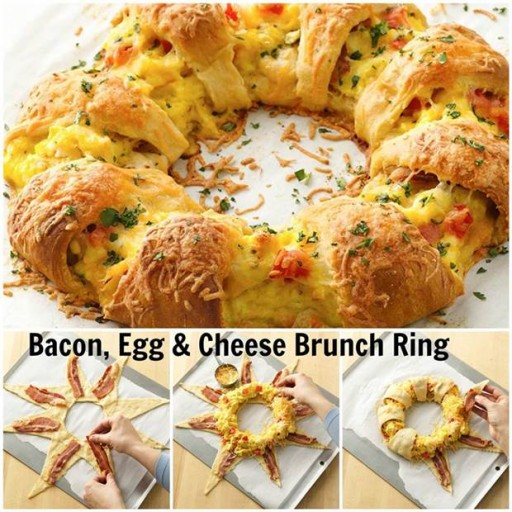 How to cook DIY bacon, egg, & cheese brunch bread ring