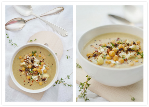 How to cook hearty roasted cauliflower & chickpea soup