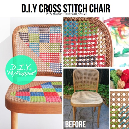 How to cross stitch a chair
