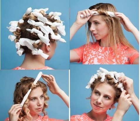 How to curl your hair with toilet paper