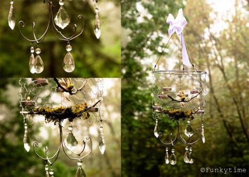 How to make DIY chicken wire chandelier