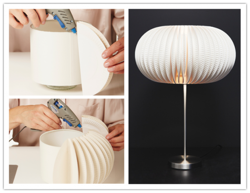 How to make DIY paper plate designer lamp