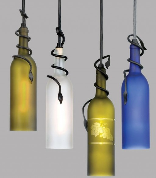 How to make DIY recycled wine bottle pendant lights