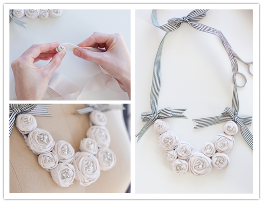 How to make DIY rosette bit necklace