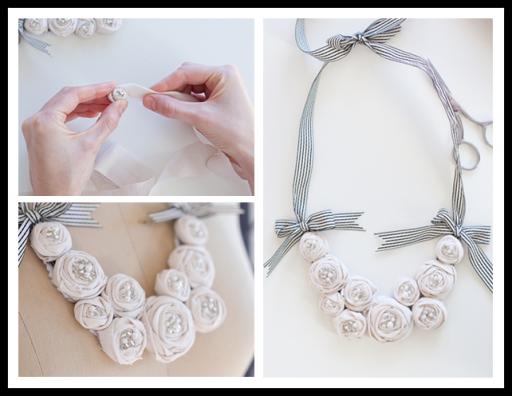 How to make diy rosette bib necklace diy tag how to make diy rosette bit necklace solutioingenieria Images