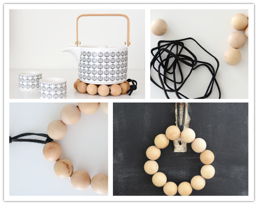 How to make DIY wooden bead trivet
