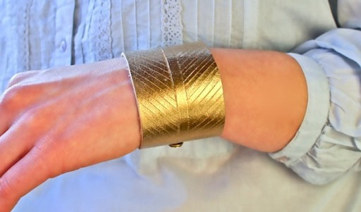 How to make KIY chevron leather cuff