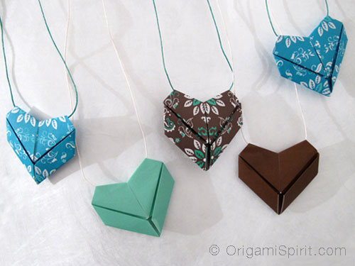 How to make origami heart paper craft