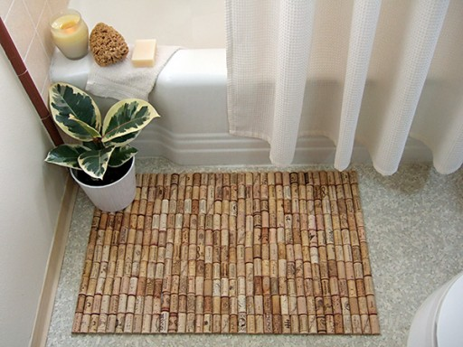 How to make unique bath floor mat with wine corks step by step DIY tutorial instructions thumb