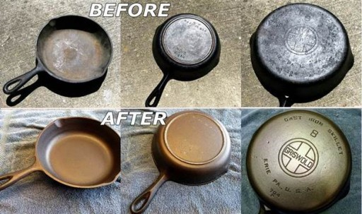 How to recondition rusty cast iron cookware