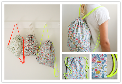 How to sew DIY drawstring backpack