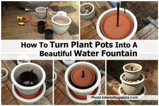 How to turn Planting pots into a DIY water fountain