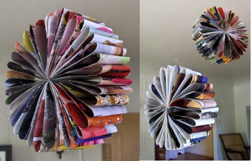 How to turn recycled catalogues into beautiful glower garlands