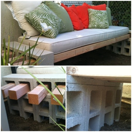 Simple DIY garden bench