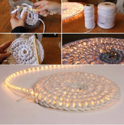 add some light to your room with this diy illuminating rug - Diy Rug