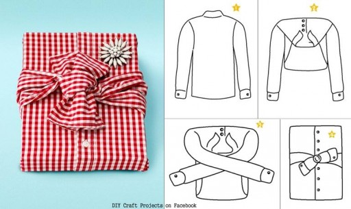 creative gift wrap with a shirt