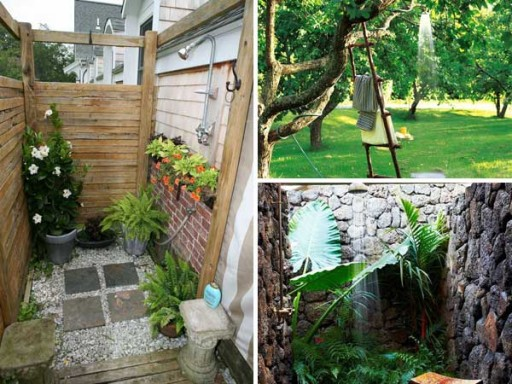30 cool outdoor shower ideas