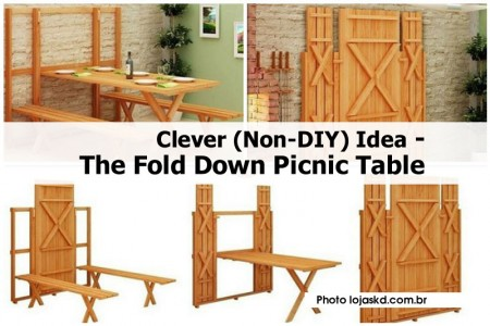 Creative fold down picnic table idea
