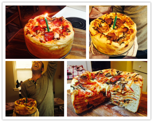 DIY birthday pizza cake recipe