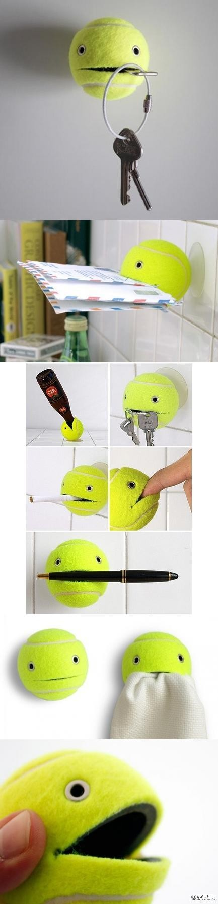 DIY tennis ball holder 2