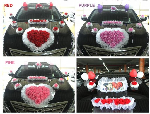 DIY wedding car decoration ideas 1