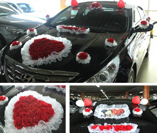 DIY wedding car decoration ideas 2