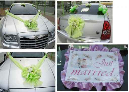DIY wedding car decoration ideas 4
