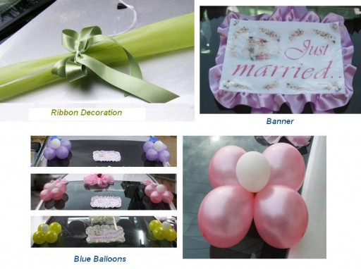 DIY wedding car decoration ideas 6