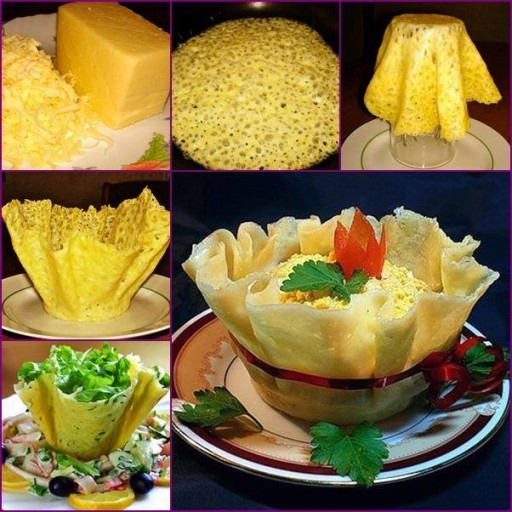 How To Make Edible Cheese Salad Bowls