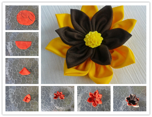 How To Make colorful DIY fabric flower