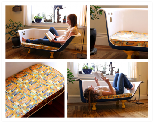 How To Re-purpose A Clawfoot Bathtub Into A Couch