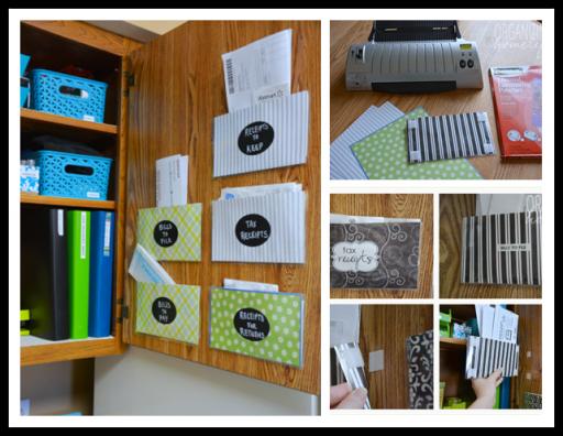 How to DIY cabinet door pocket organizer