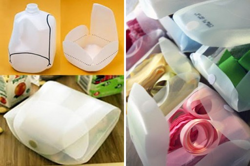 How to DIY reusuable lunch box from milk jug