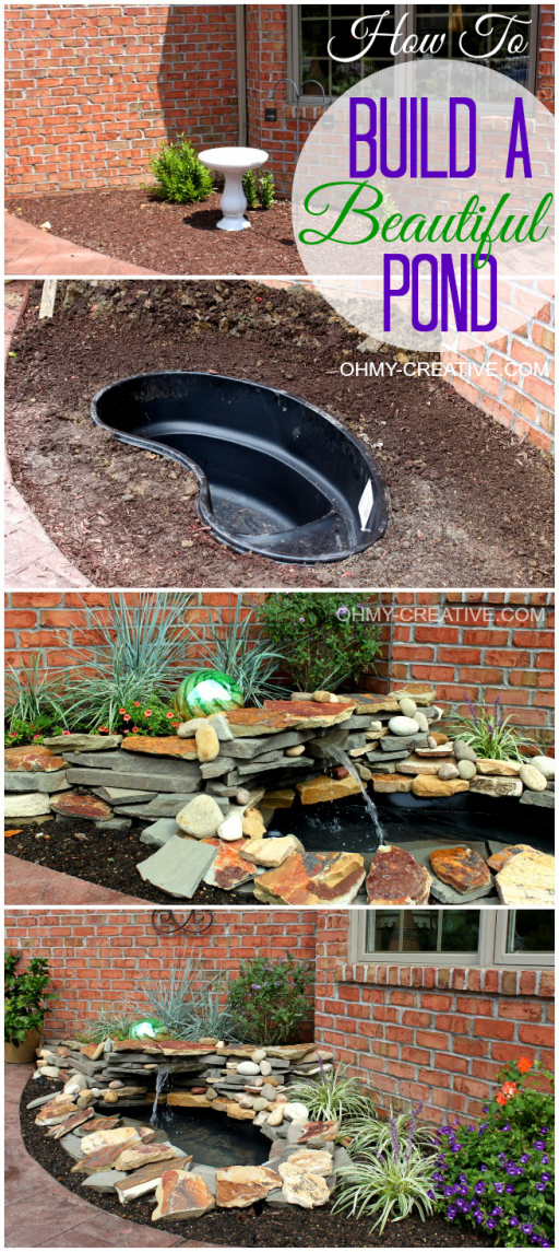 How to build a DIY water fountain and pond 4