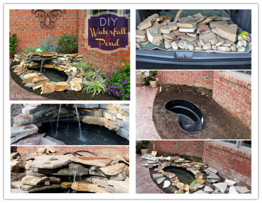 How to build a DIY water fountain and pond