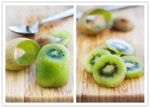 How to cut and peel kiwi fruit