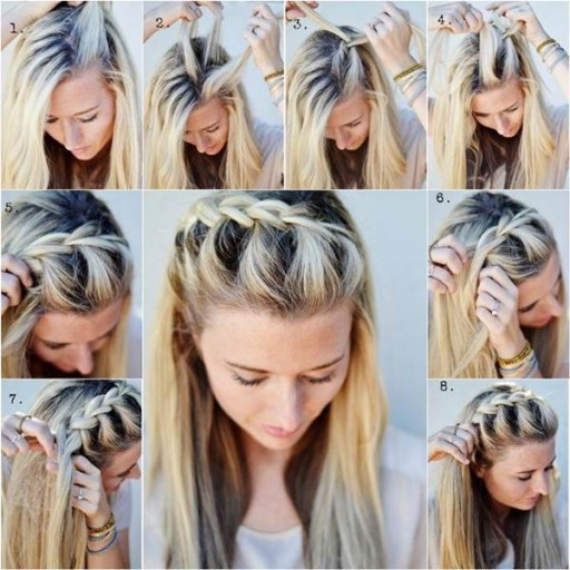 How to do DIY half up side French braid hairstyle
